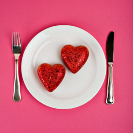 Hearts on Plate