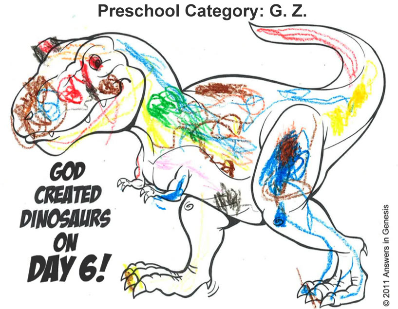Dinosaur Coloring Contest Winners