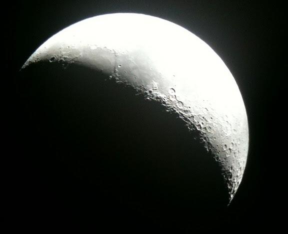 Moon through scope