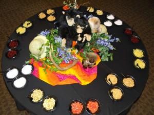 Condiments at Volunteer Appreciation Dinner