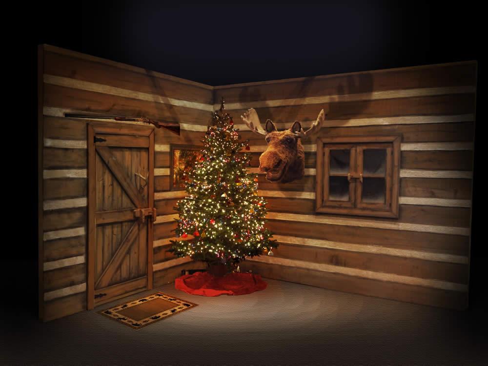 Christmas Cabin Art