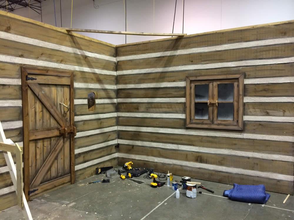 Christmas Cabin Construction