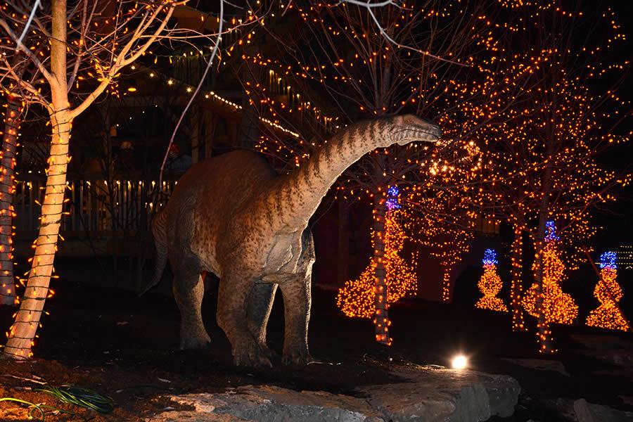 Dinosaur in Garden of Lights