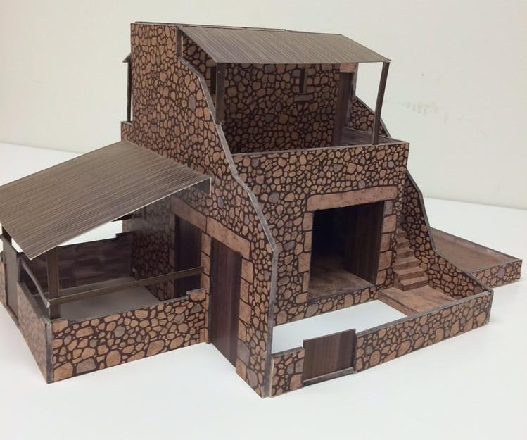 Live Nativity House Model