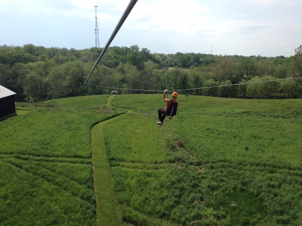 Zipping over the Field