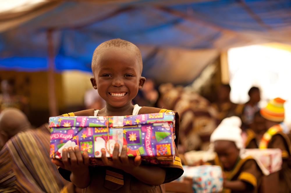 Boy Receiving Gift