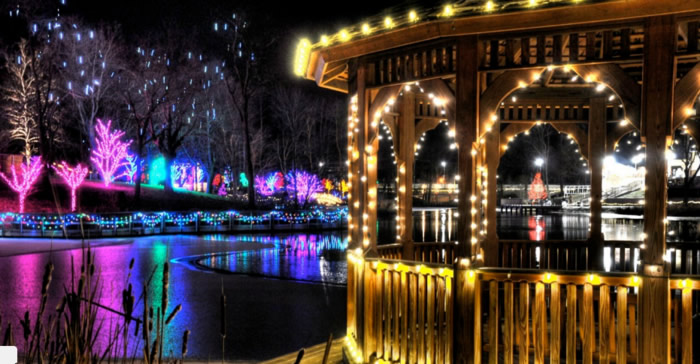 Christmas Town Ponds and Gardens