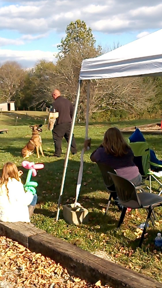 K-9 Demonstration at Fall Fun Day