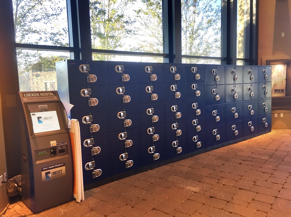 Full Bank of Lockers