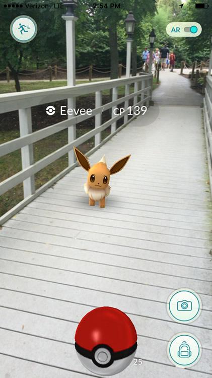 Pokémon on Bridge
