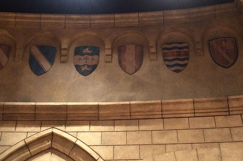 Shields on Wall