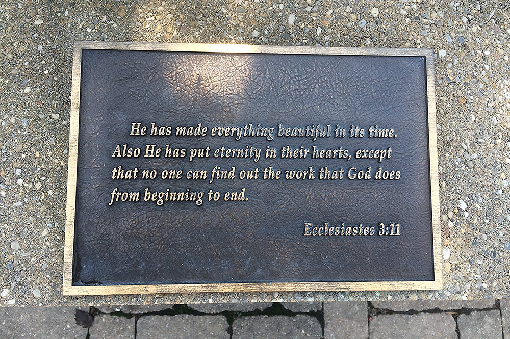Scripture Plaque