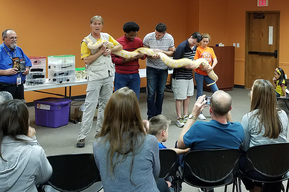 Group with Snake
