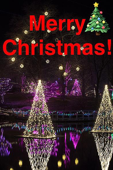 Christmas Town Lights with Merry Christmas
