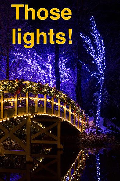 Christmas Town Lights with bridge