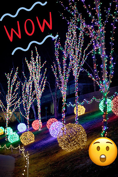 Christmas Town Lights with pictures