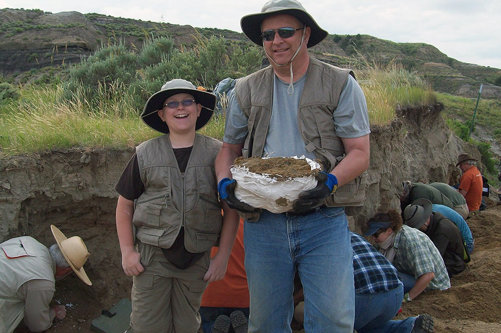 Son and Father at Dig