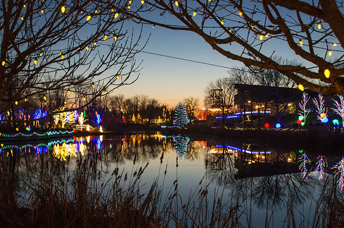 Lake During Christmas Town