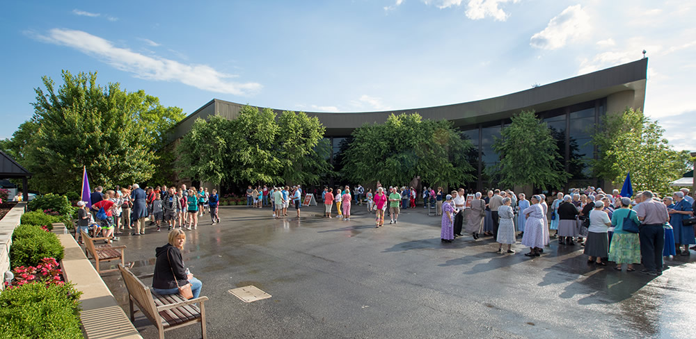 Creation Museum Grand Plaza with Guests