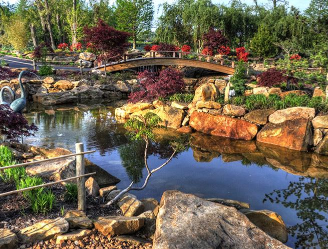 Bridge in Creation Museum Botanical Gardens