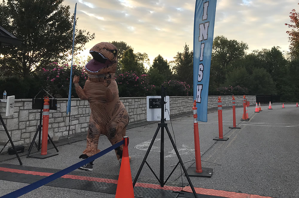 T-rex at Finish Line
