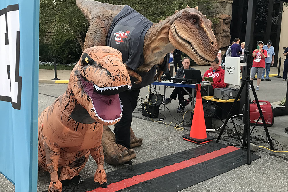T-rex at Start of Race
