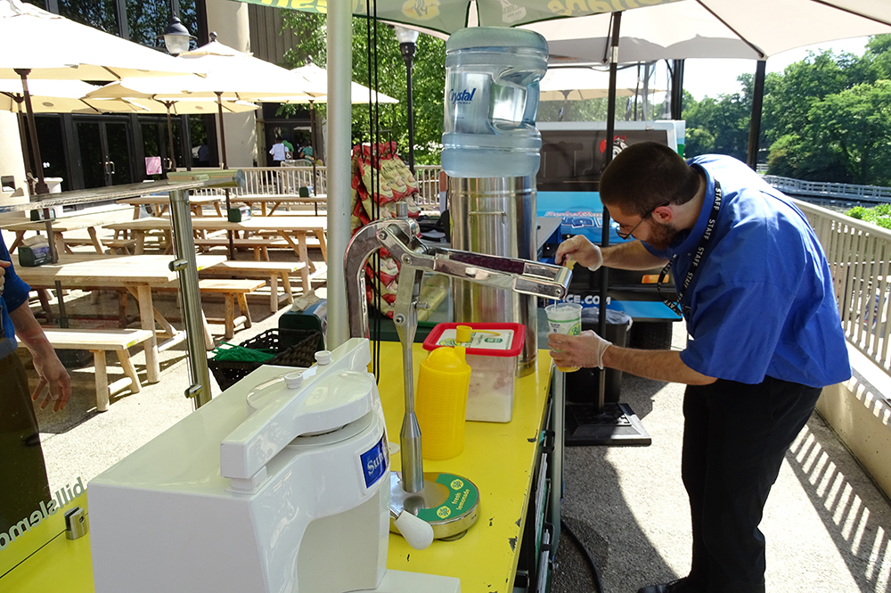 Employee Making Fresh Lemonade