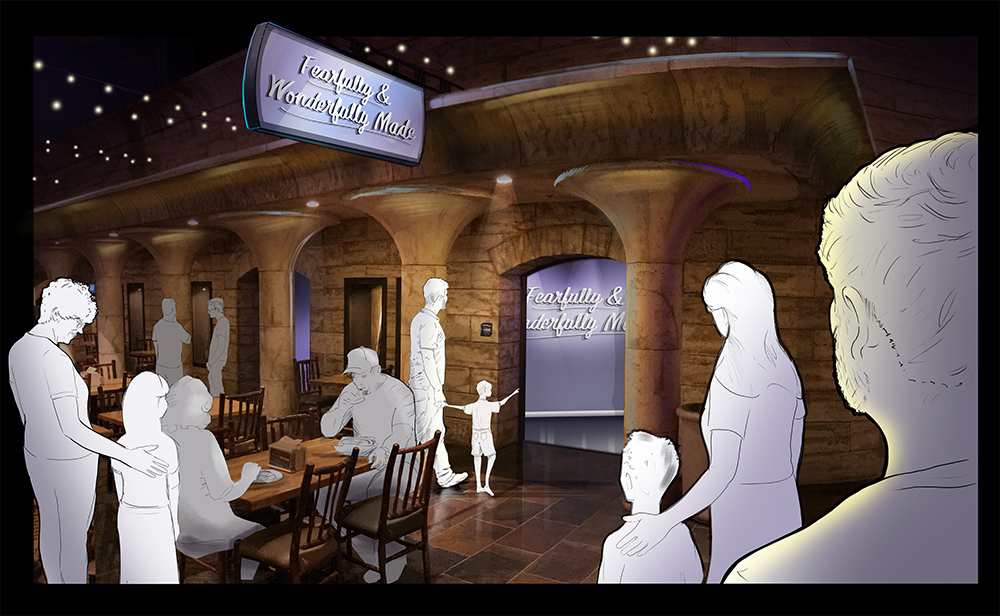 Concept Art for Fearfully and Wonderfully Made Exhibit