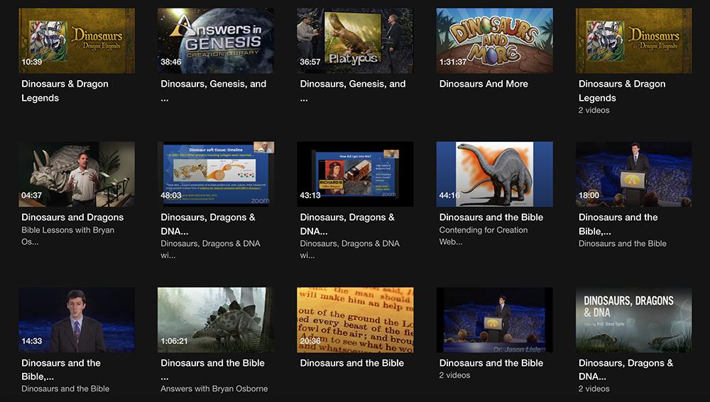 Answers TV Dinosaur Videos