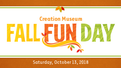 Fall Fun Day Coming to the Creation Museum in October