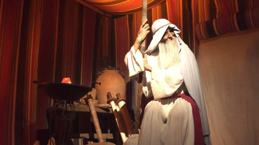 Animatronic Methuselah at the Creation Museum