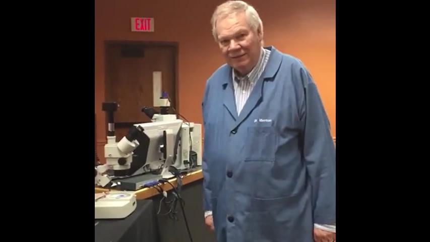 Dr. David Menton Observes Pond Life