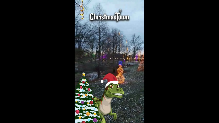 Christmas Town Snapchat Filter: Dino