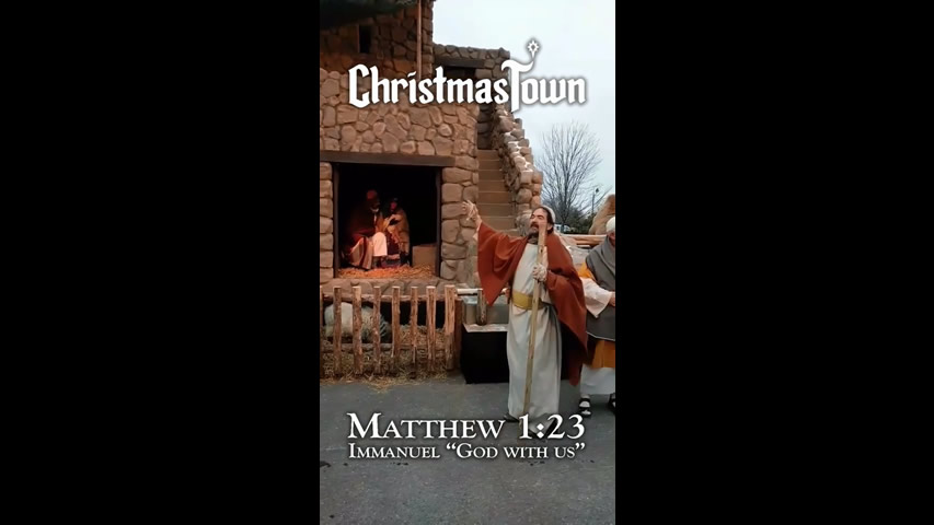 Christmas Town Snapchat Filter: Nativity