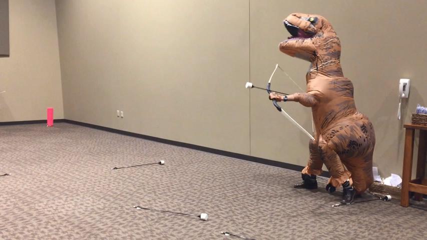 Rexy Plays Archery Tag