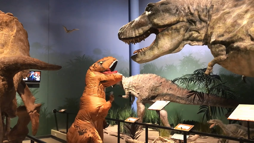 Creation Museum Blog: T-rex Thankful for Friends