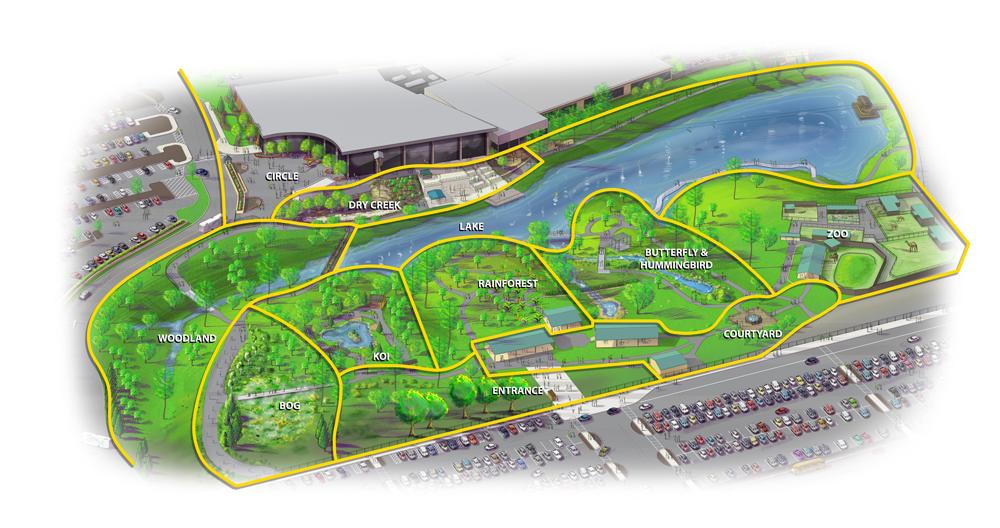 Botanical Gardens Map