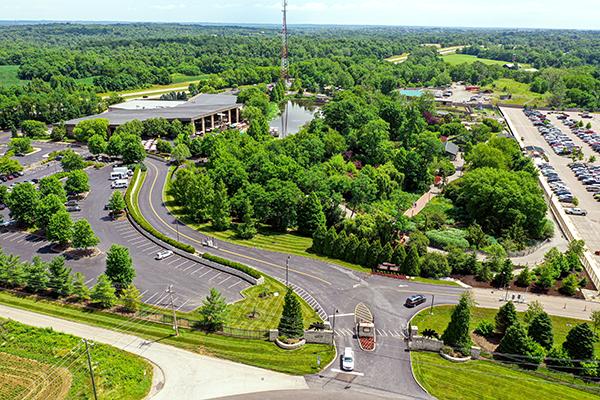 Botanical Gardens Drone View